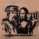 La Gioconda si fa un selfie con Leonardo.