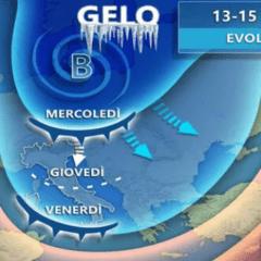 Arriva gelo da Russia, burrasche e neve. Entro questa sera correnti gelide al Sud