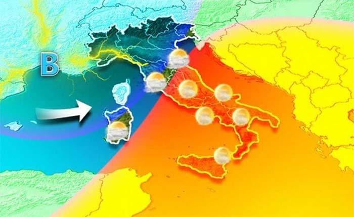 Fine settimana da bollino rosso: Italia divisa in due